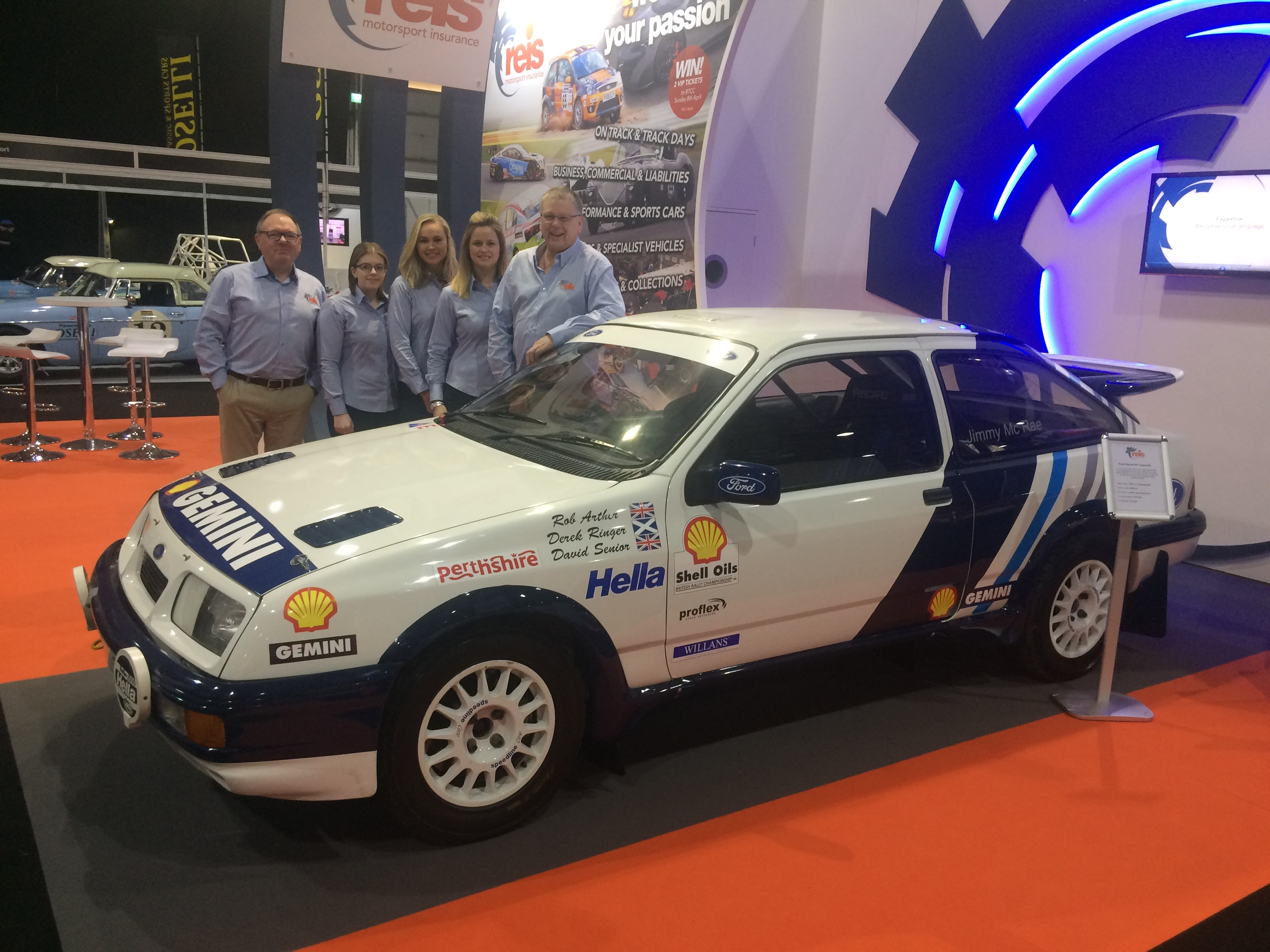 Reis Motorsport Insurance | The Reis team at Race Retro 2018