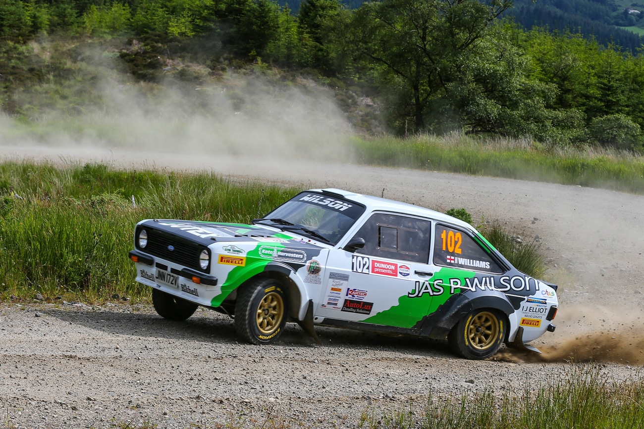 Wilson was eighth overall and top 2WD contender on the Argyll Rally