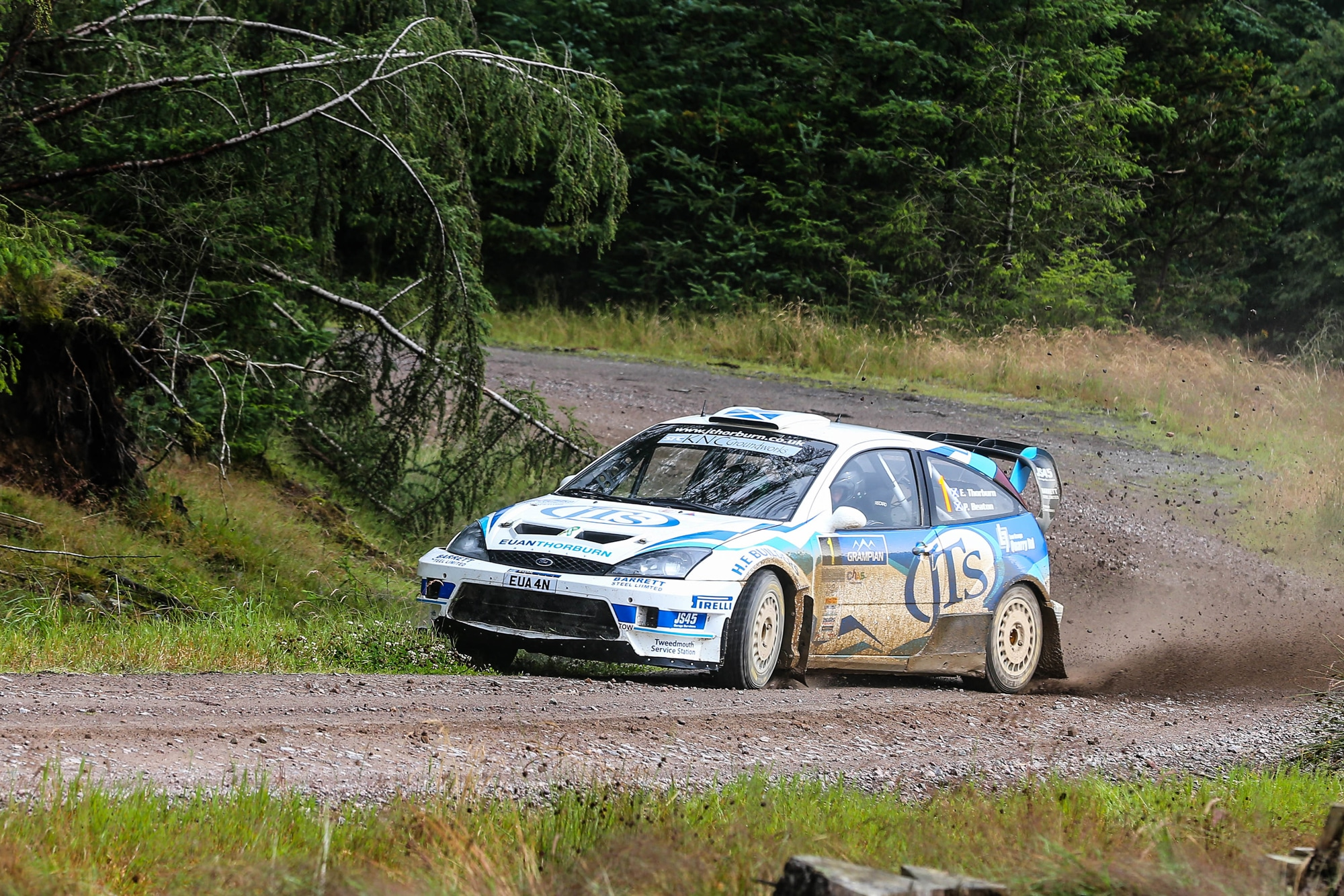Euan Thorburn three time Scottish Rally champion