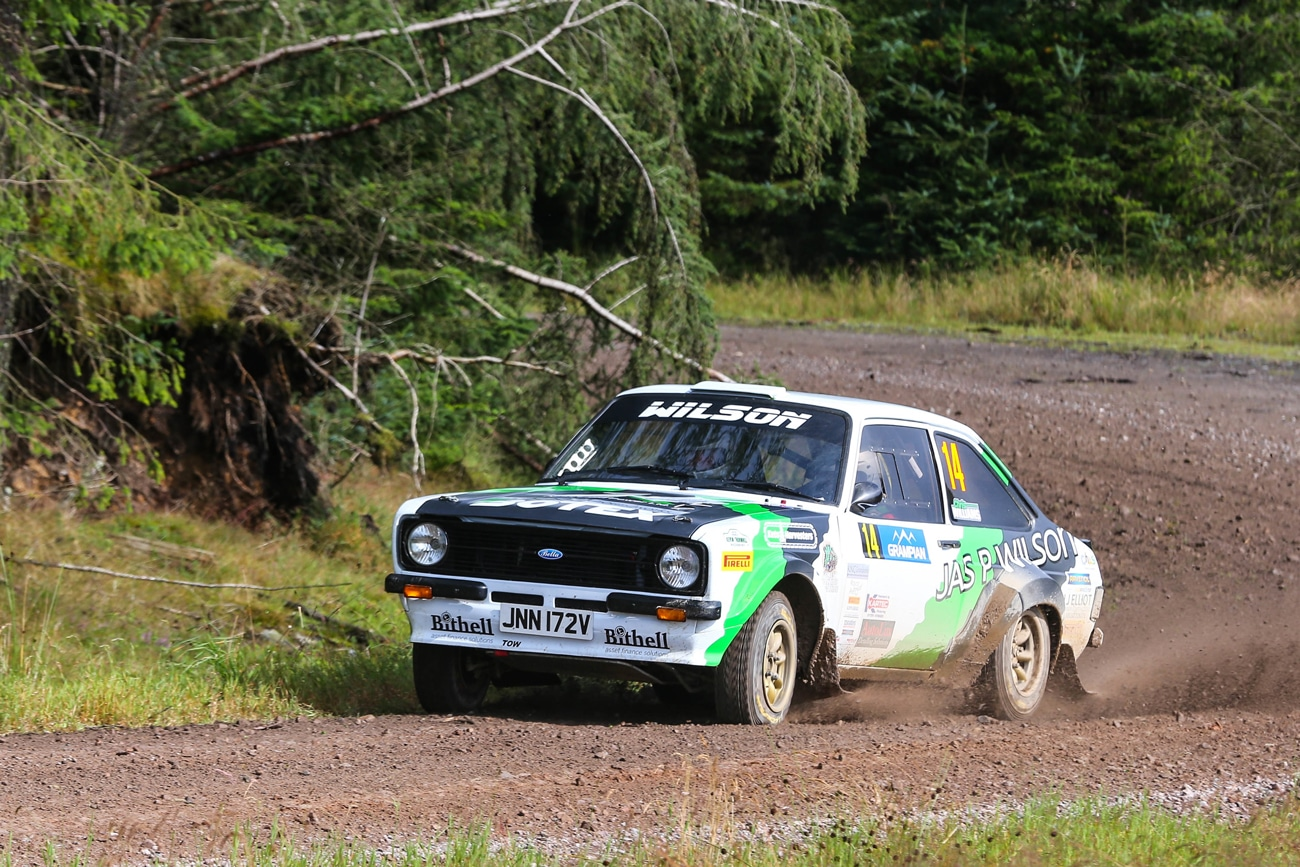Wilson taking a corner at speed in his MK2 Escort