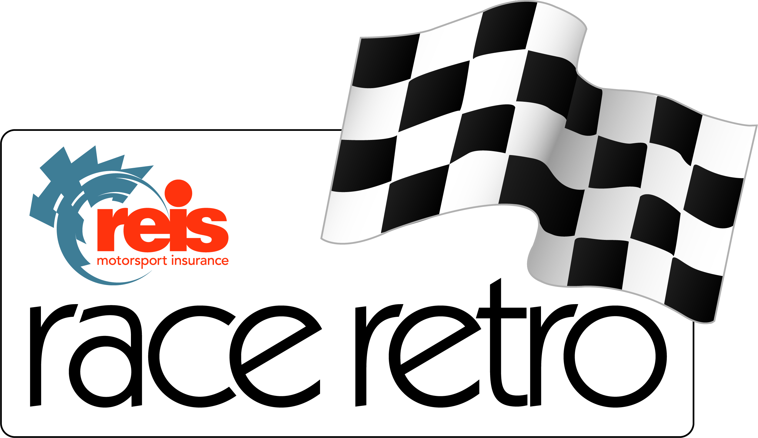 Reis Race Retro (21st - 23rd February 2020) logo with chequered flag