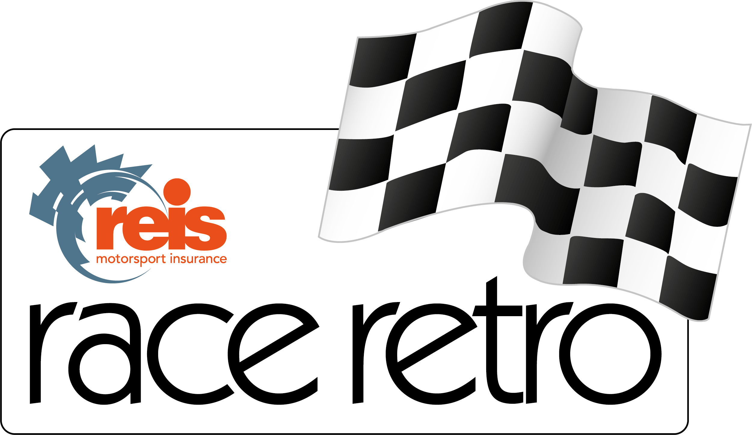 Reis Race Retro logo with chequered flag