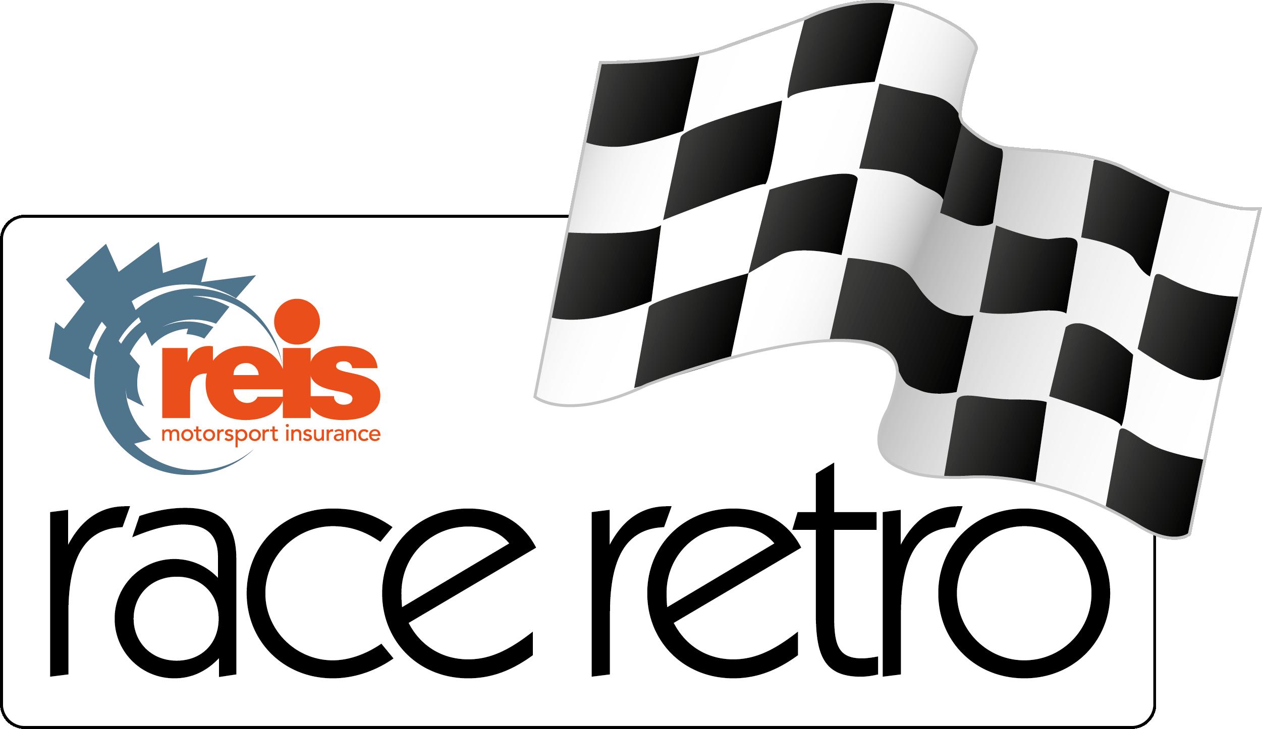 Reis Race Retro logo with chequered flag