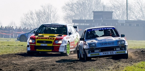 Reis Race Retro - live rally action at the show