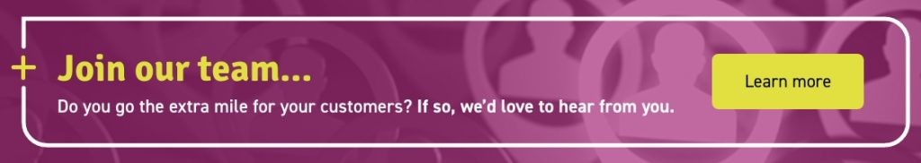 A careers banner with a join our team caption and learn more button